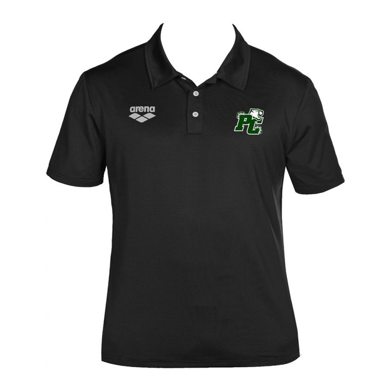 Arena Team Line Tech Short Sleeve Polo- Pine Crest-black