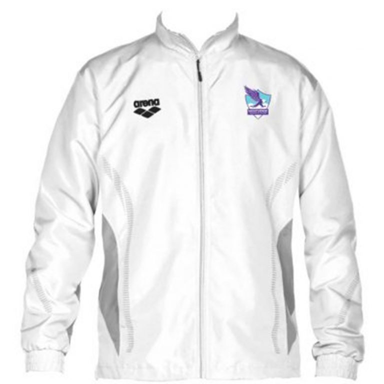 ARENA TL JACKET WHITE WITH ZIPPER