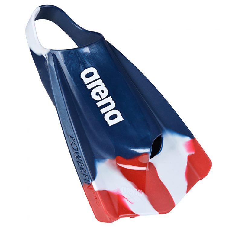 ARENA POWERFIN PRO- RED WHITE BLUE FRONT