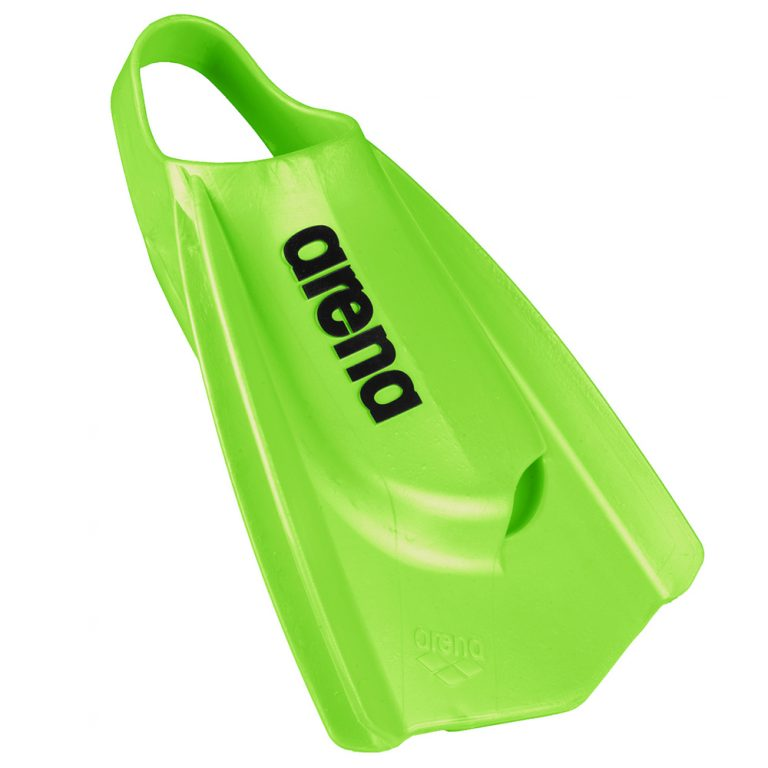 ARENA POWERFIN PRO- LIME GREEN FRONT