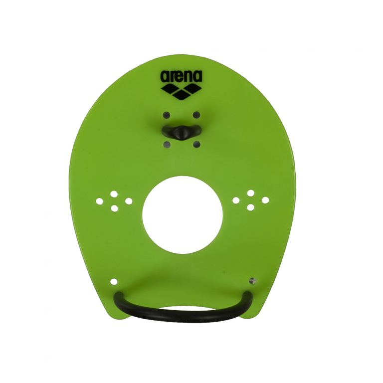 ARENA ELITE HAND PADDLE- LIME GREEN